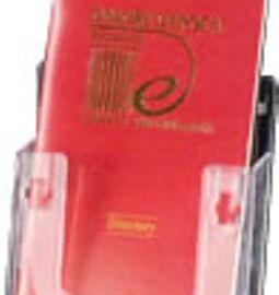 PORTADEPLIANT PLEXIGLASS RETTANGOLARE 1/3 A4 CM 10,5X13H
