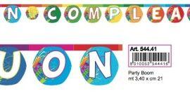 FESTONE BANDIERINE PVC BUON COMPLEANNO PARTY MT3,4