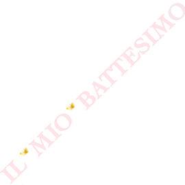 """FESTONE """"IL MIO BATTESIMO"""" ROSA/ORO MT 3,60"""
