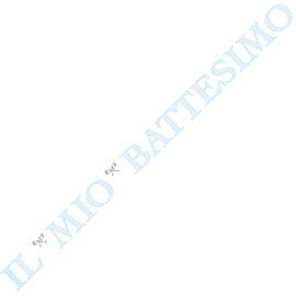 """FESTONE """"IL MIO BATTESIMO"""" AZZURRO/ARGENTO  MT 3,60"""