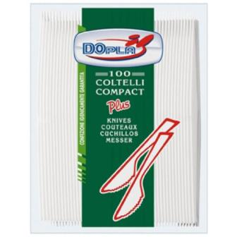 PARTY COLTELLI BIANCHI COLORATI PLASTICA CARTA 100pz Feste