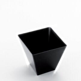 BICCHIERINO/COPPETTA PLASTICA NERO ROMBO 25PZ
