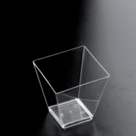 BICCHIERINO/COPPETTA PLASTICA TRASPARENTE ROMBO 25PZ