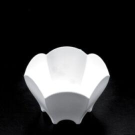 BICCHIERINO/COPPETTA PLASTICA BIANCO TULIP 25PZ