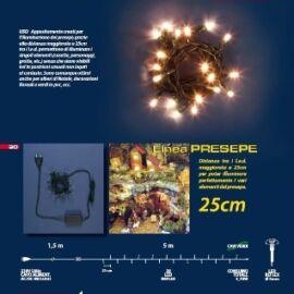 CATENA 20 MINIBULBI LED MULTI 6,5M USO INT.