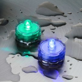 SET 2 TEA LIGHT SOMMERGIBILI 1 LED A BATTERIA CM 3XH2,5 MULTICOLOR