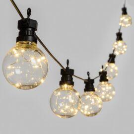 CATENA 10 LAMPADINE PARTY LIGHT CON 100 MICROLED 5MT LUCE BIANCA CALDA