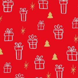 CARTA REGALO 25 FOGLI CM 70X100 PIEGATA 1/2 GENERICA 0110 rosso pacchetti regalo
