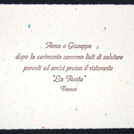 INVITO NOZZE PUNTINATO ART 3966 AL PZ (25PZ)