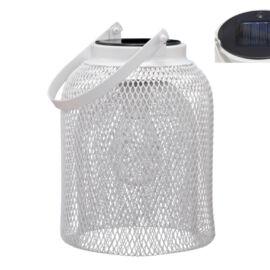 LAMPADA SOLARE METAL WHITE D.15,5X23 CM
