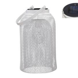 LAMPADA SOLARE METAL WHITE D.15,5X28 CM