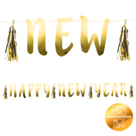 BANNER HAPPY NEW YEAR ORO FOIL MT 2,10