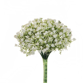 BOUQUET COLOURFUL PLASTIC GYPSOPHILA X 12  WHITE