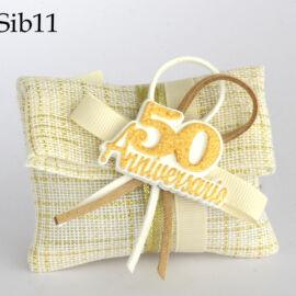 BUSTINA 50° ANNIVERSARIO CON GESSO+ESSENZA (CM 8XH.6) SIBILLA