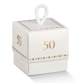 SCATOLA FLEUR MM 50X50X50 WHITE CINQUANTESIMO AL PZ