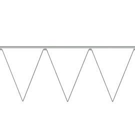 FESTONE BANDIERINE PVC BIANCO MT.10