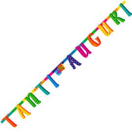 """FESTONE """"TANTI AUGURI """" MULTICOLOR  MT 2"""