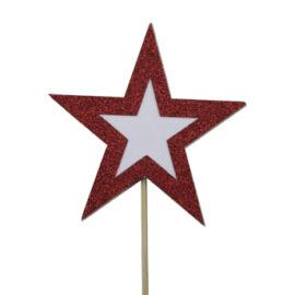 PICK CON DECORAZIONE STELLA CM 10X10 RED