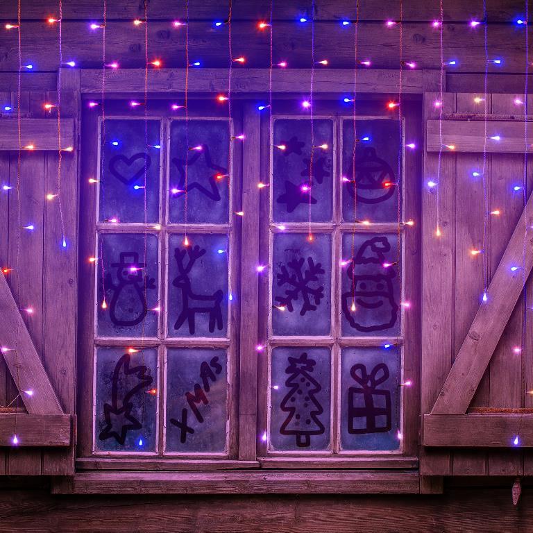 10m15m 30m Ghirlanda di luci lampadine illuminazione esterna Bianco caldo Festa Natale