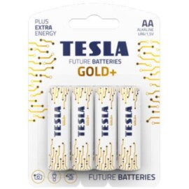 BATTERIA TESLA AA GOLD/STILO GOLD+ALKALINE BLISTER 4PZ
