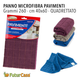 AG PANNO MICROFIBRA PAVIMENTO QUADRETT. 40X60 CM 260GR 3400