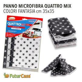 AM  PANNO MICROFIBRA  SET 4PZ MIX 35X35CM 3349