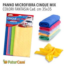 AM  PANNO MICROFIBRA  SET 5PZ MIX 35X35CM 3332
