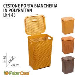 DL CESTONE PORTA BIANCHERIA  45LT 50X39X30 CM ART 0778 0580