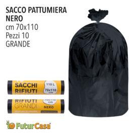 DC SACCO PATTUMIERA 70X110 NERO 10PZ C/LEGACCIO 2670