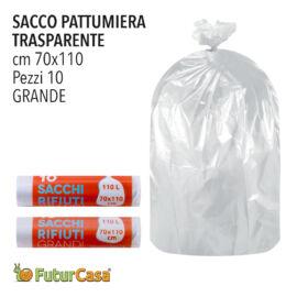 DC SACCO PATTUMIERA 70X110 NEUTRO 10PZ C/LEGACCIO 2663