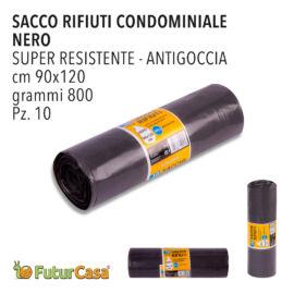 DD SACCO PATTUMIERA 90X120 800GR 10PZ NERO 0058