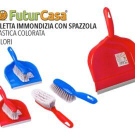 CBA  PALETTA C/GOMMA E SPAZZOLA ROSSO-BLU 5049