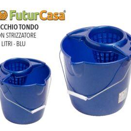 CCD SECCHIO TONDO 12LT+STRIZZATORE BLU 4370