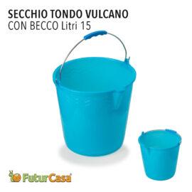CH SECCHIO TONDO 15LT VULCANO C/BECCO 4396