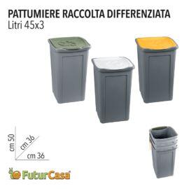 EA PATTUMIERA RACCOLTA DIFFERENZIATA 45LT 36X36X50CM 4539
