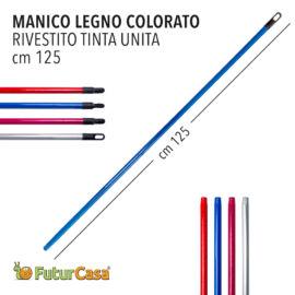 BT MANICO LEGNO COLORATO TINTA UNITA  FANTASIA 125CM 4410